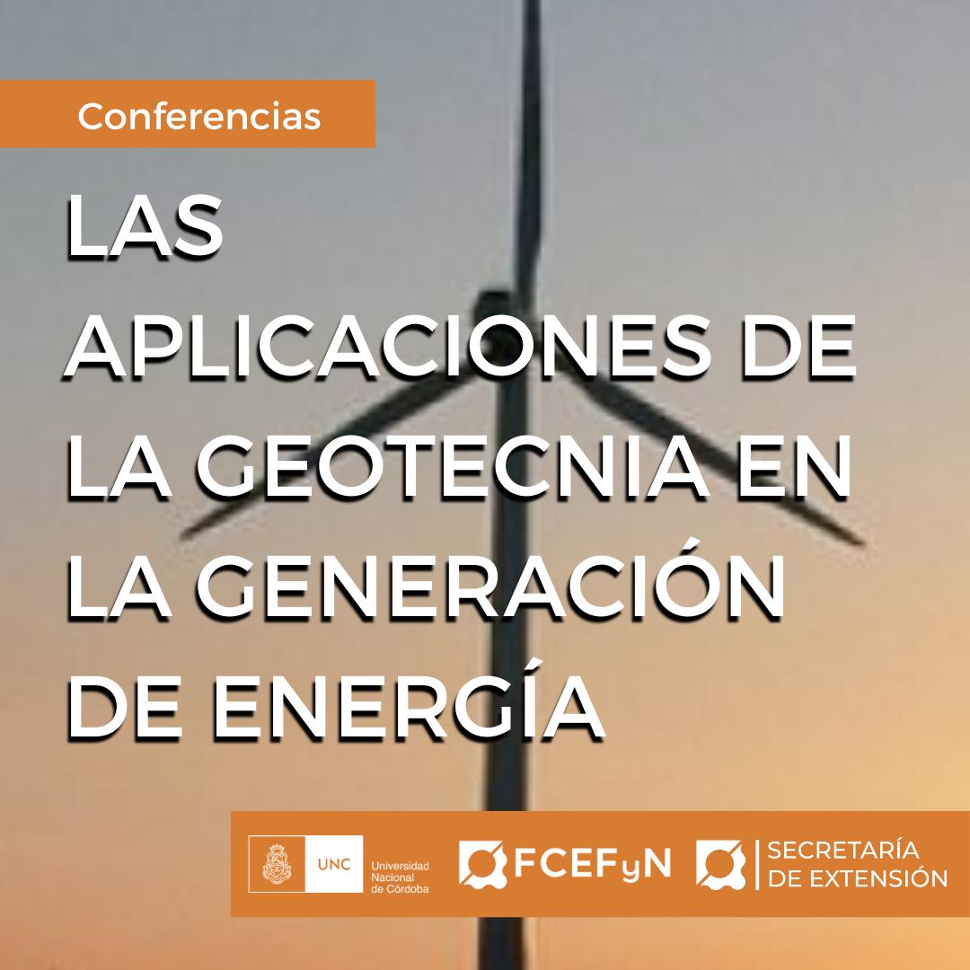 Certificados Las aplicaciones de la geotecnia en la generación de energía