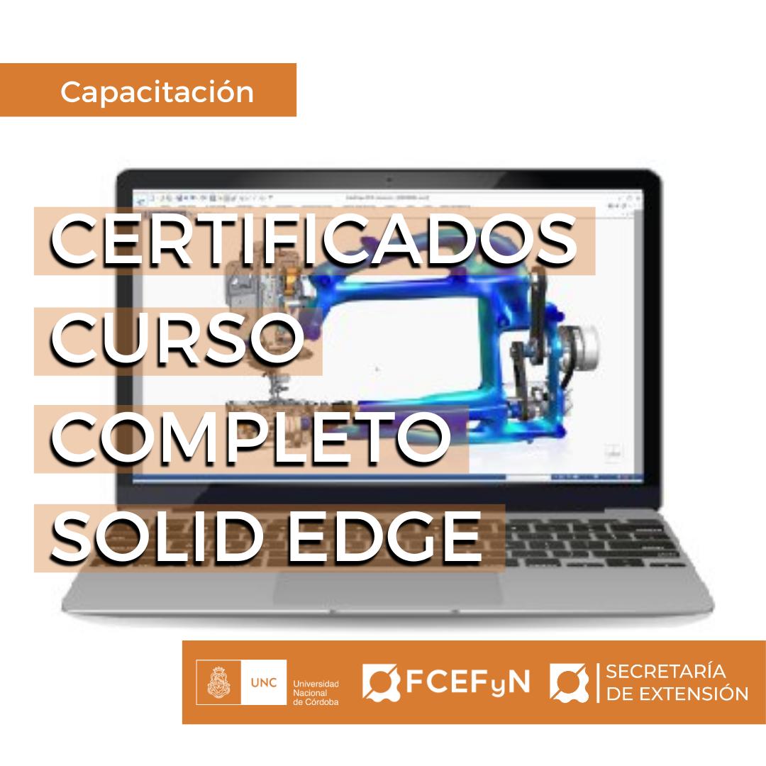 Certificados Curso Completo SOLID EDGE