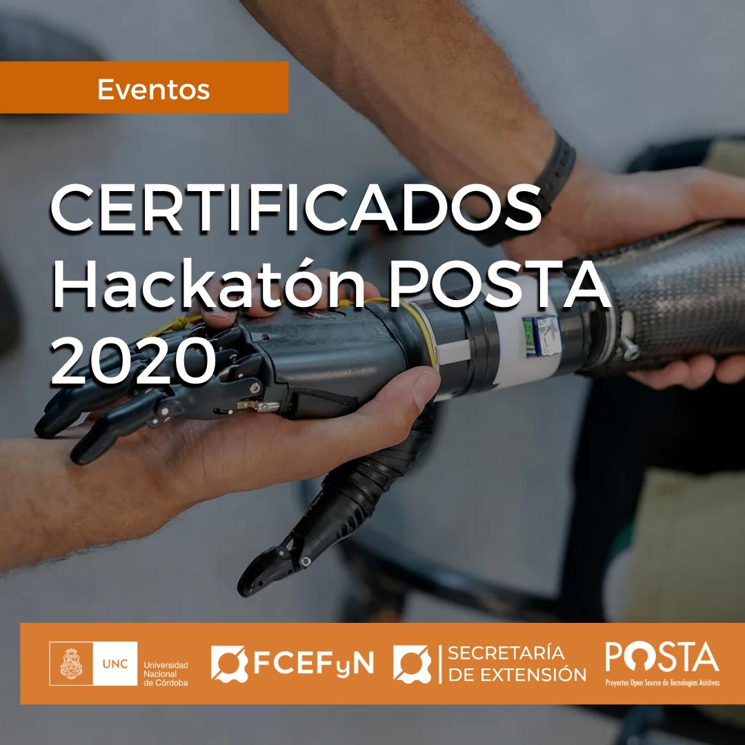 CERTIFICADOS HACKTON POSTA